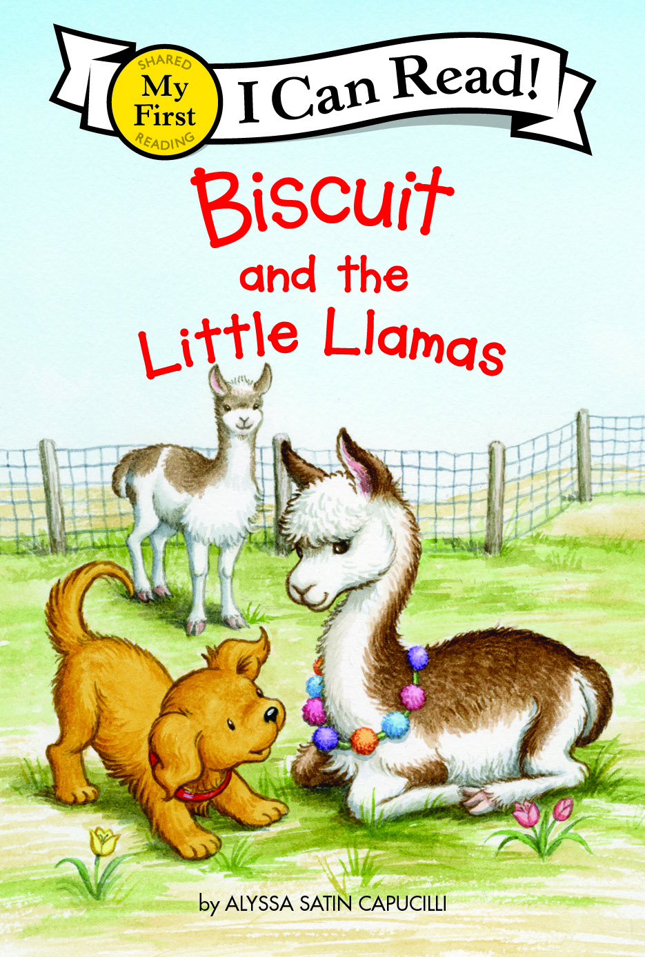 childrens book cover Biscuit and the Little Llamas